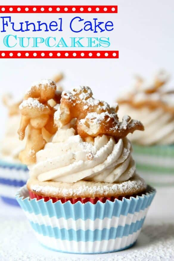 Funnel Cake Cupcakes | 10 Must Have Cupcakes Recipes for Summer | Summer Cupcakes