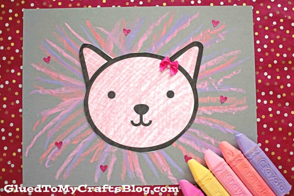 Chalk Art Valentines Lion