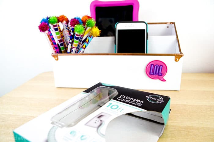 Phone Charger Organizer. DIY Charging Station. Make your own Charging Station just in time for back to school. DIY Phone Charging Station. How to make a charging station.