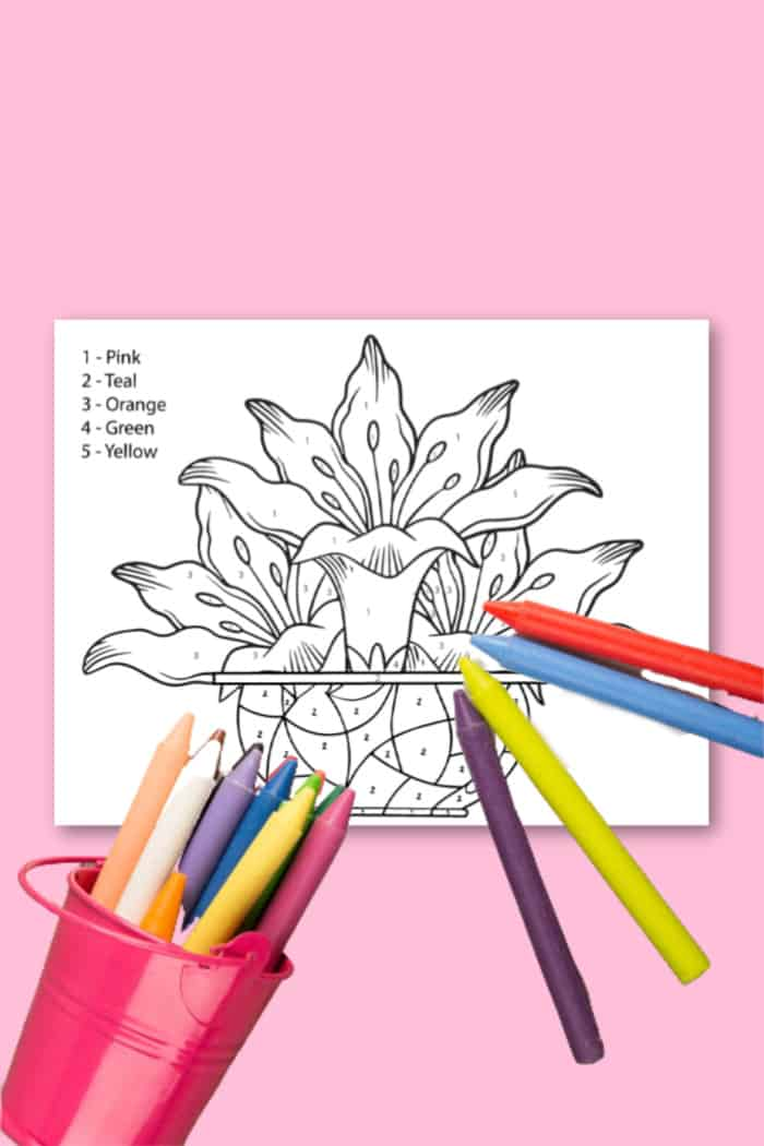 Kids Coloring Sheets of flowers