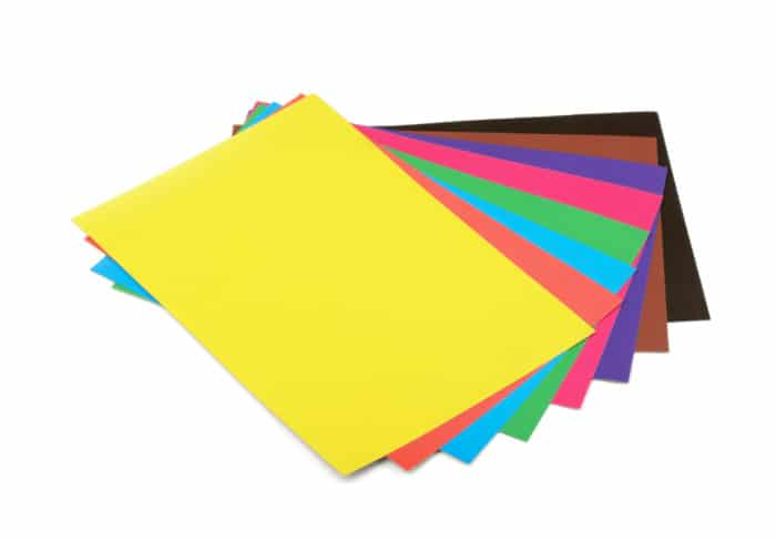 Construction Paper in multiple colors