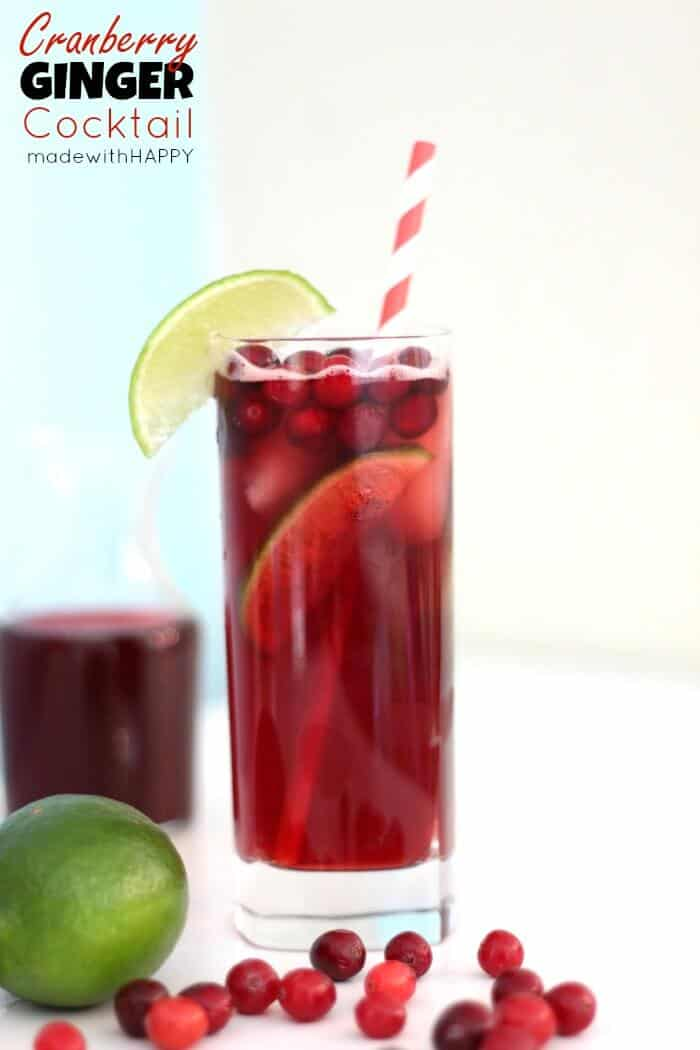and limes mix in the vodka cranberry juice and ginger beer and sweet n ...