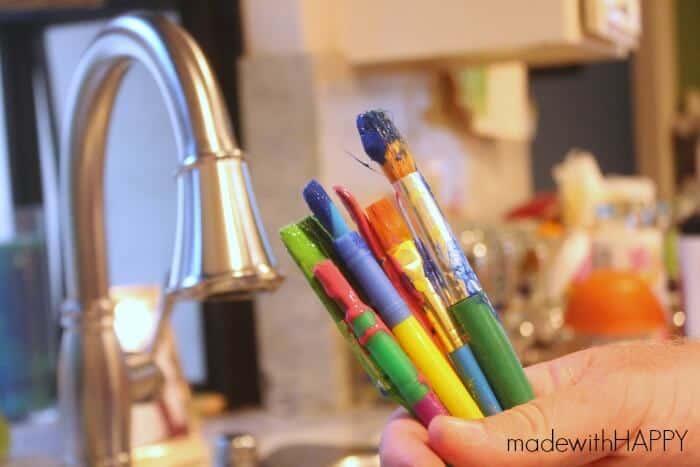 delta-faucet-paint-brush-cleaning