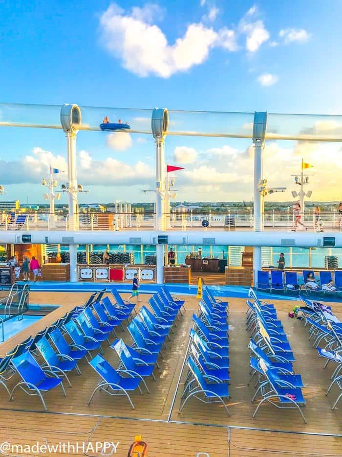 The water slide on the Disney Dream Crusie. What is really like on a Disney WDW Cruise. Answering questions about Disney Cruise and the Disney Dream. What to expect on a Disney Cruise. The Disney Cruise as a family of four!