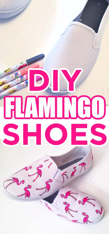 DIY Flamingo Shoes