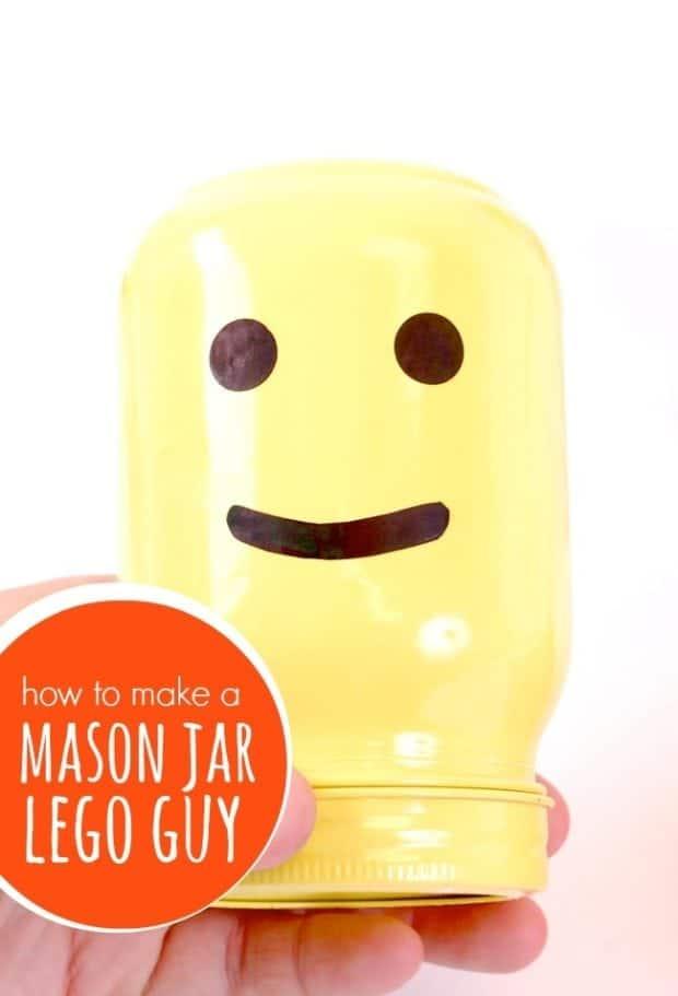 Mason Jar Lego Guy