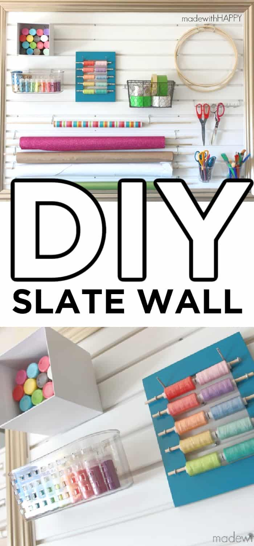 DIY Slate wall