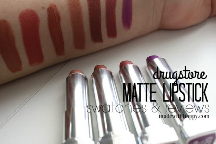 Drugstore Matte Lipstick | Lipsticks for Spring | All things Matte Lipstick | www.madewithHAPPY.com