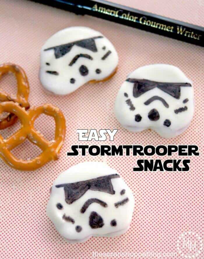 Easy Stormtrooper Snacks | Star Wars themed Food  | 5 Super Fun Fall Foods | Halloween Themed Foods, Fall Flavored Foods | The Handmade Hangout | www.madewithHAPPY.com