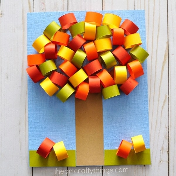 fall tree paper craft