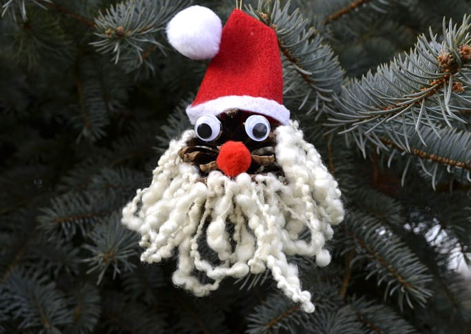 Pinecone Santa Ornament DIY Craft