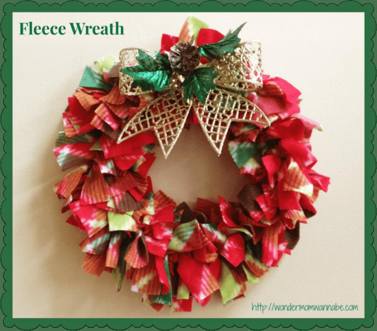 Easy, DIY Fleece Wreath For Under $5
