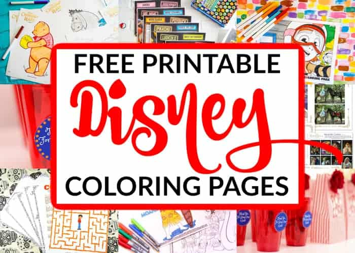 Free Printable Disney Coloring Pages