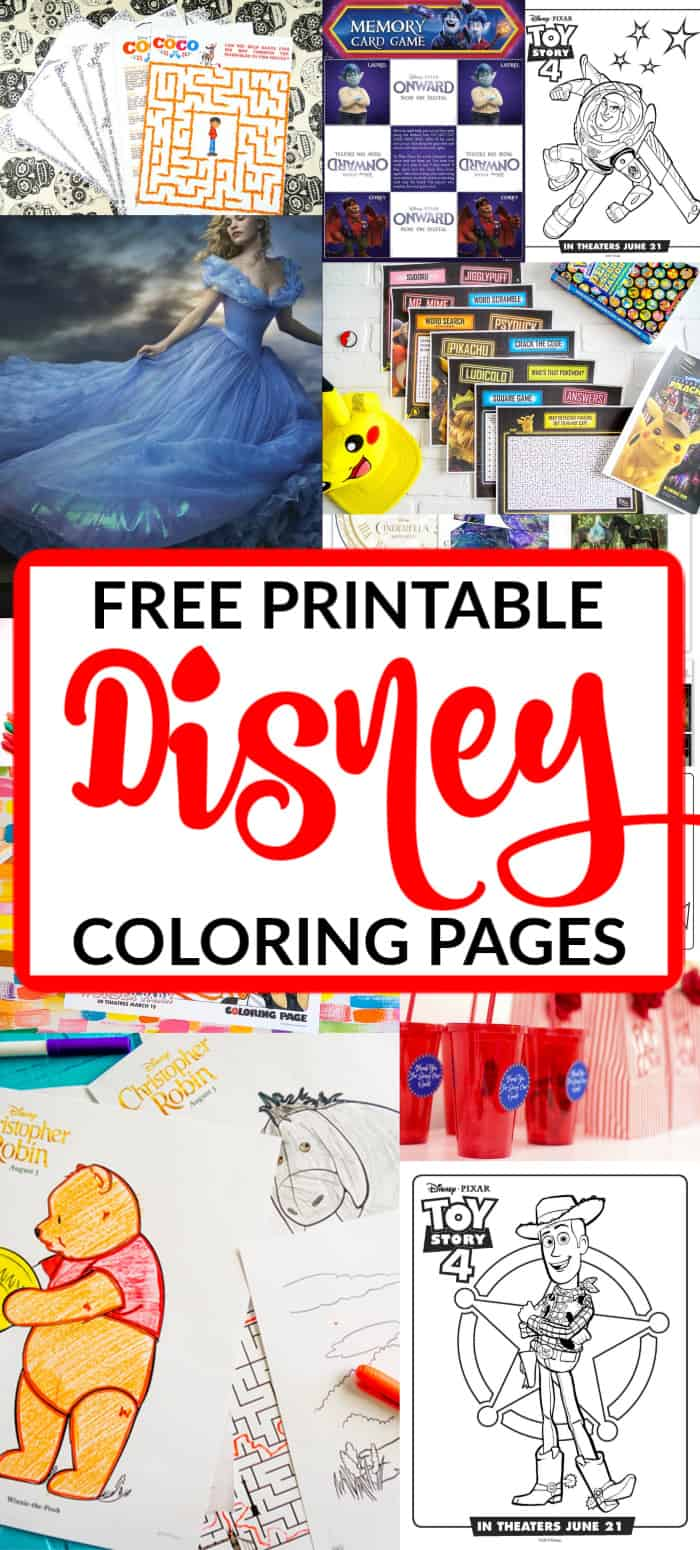 Free Printable Disney Coloring Pages For Kids