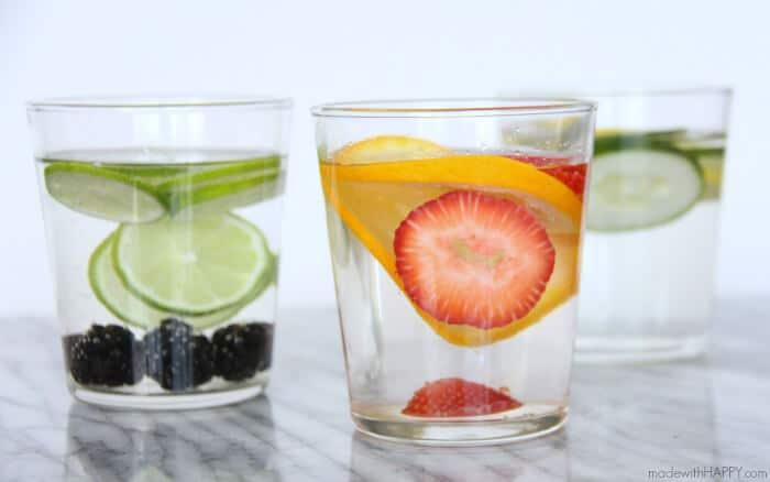 Fruit Infused water | Lemon Cucumber Water | Lime Blackberry Water | Strawberry Orange Water | Water Detox | Britta Water Filter | www.madewithHAPPY.com