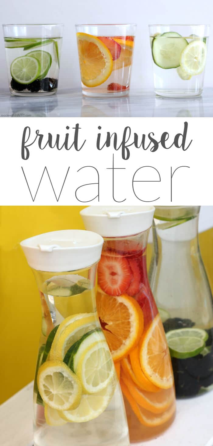 Fruit Infused water | Lemon Cucumber Water | Lime Blackberry Water | Strawberry Orange Water | Water Detox | Britta Water Filter | www.madewithHAPPY.com