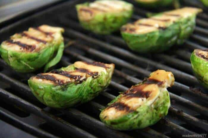 Brussel Sprout Appetizers | Grilled Brussel Sprouts Recipe | www.madewithHAPPY.com