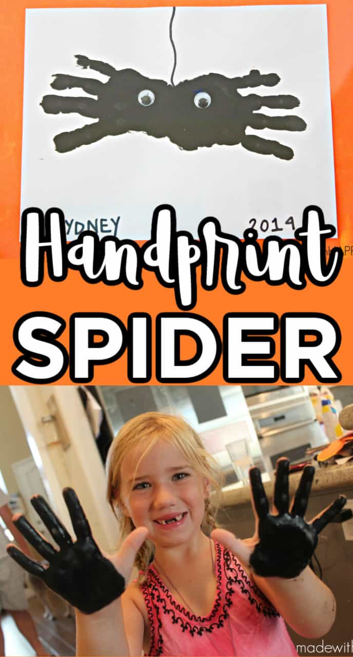 spider hand prints