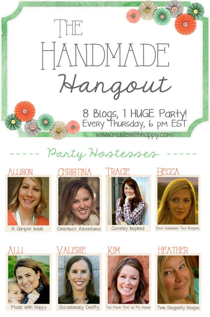 Handmade Hangout Link Party   www.madewithHAPPY.com