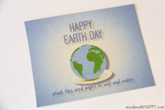 Seed paper Earth Day Postcard | Fun Free Printable for Earth Day | www.madewithHAPPY.com