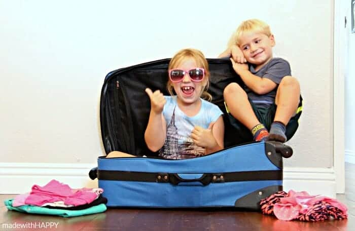Traveling with Kids - Helping them Pack | www.madewithHAPPY.com | #GoldfishTales AD