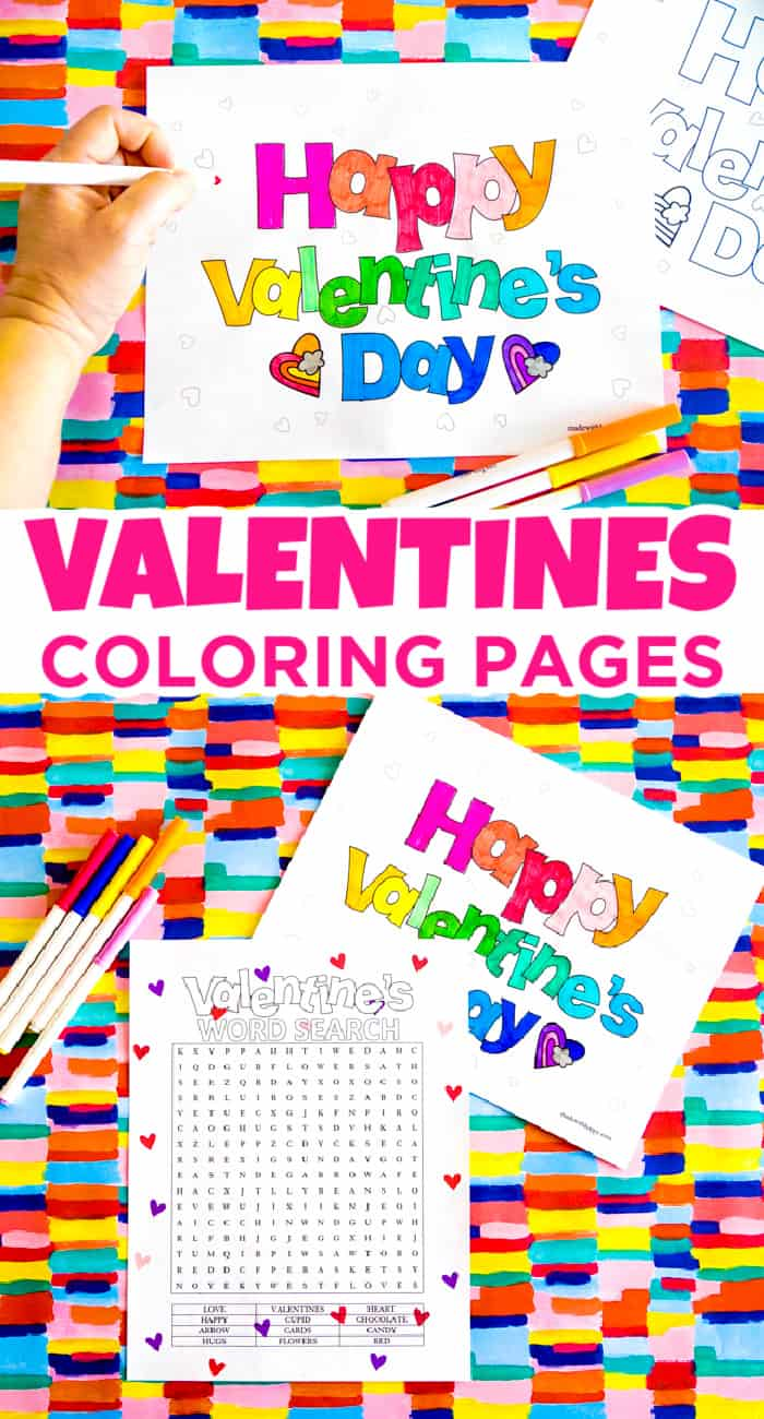happy valentine coloring sheets