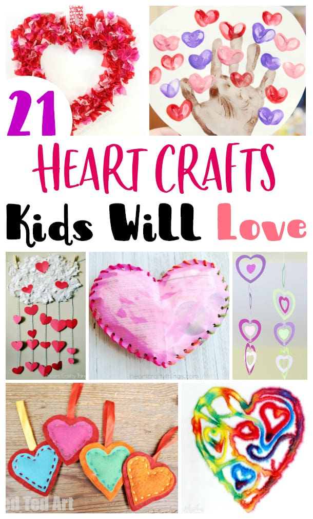 Heart Crafts Kids Will Love
