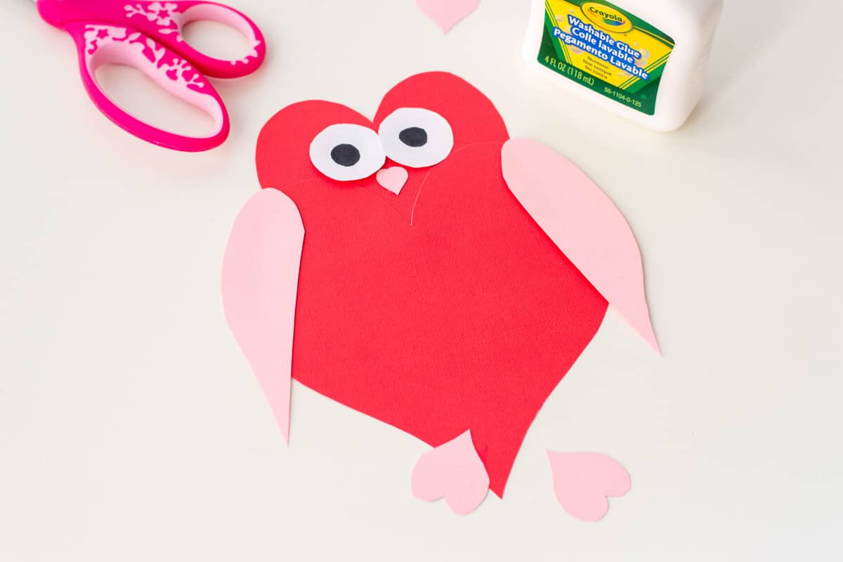 Heart shaped paper craft owl