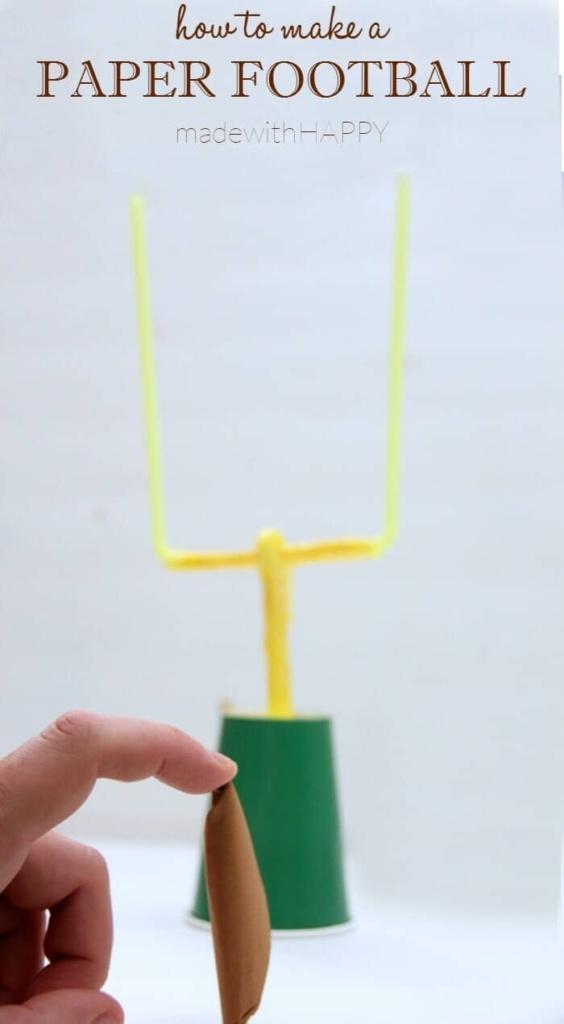 Football Fun with Kids | Football Bingo Printables | Football TIC-TAC-TOE | How to make a paper football | www.madewithHAPPY.com