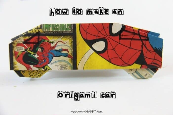 Playing with Origami Cars   How to make an origami car along with video   Paper crafting with kids and kids paper crafts loaded with fun   www.madewithHAPPY.com