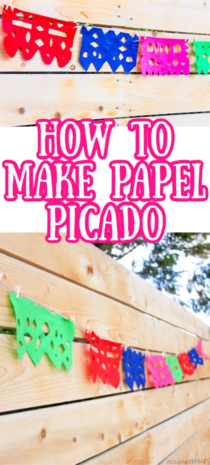 How to make a papel picado out of felt