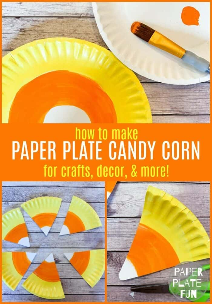 paper plate candy corn
