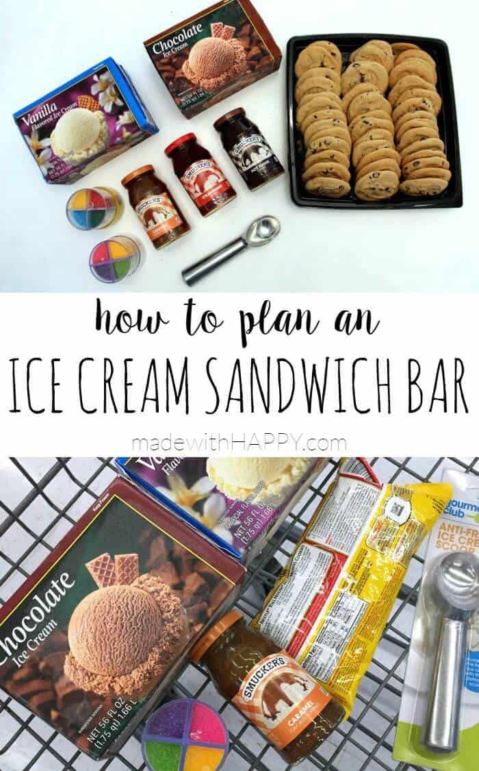 How to Plan an Ice Cream Sandwich Bar  #SundaeFundae #client