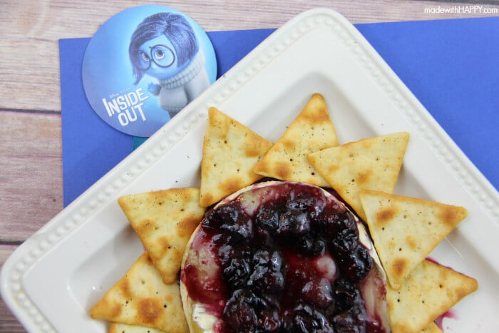 Blueberry Appetizers | Inside Out Dinner Party - Baked Blueberry Brie - www.madewithHAPPY.com