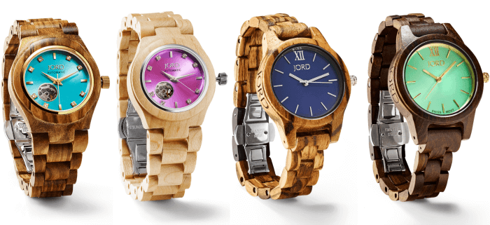 Womens Wooden Watches | Wood Watches with Color | Turquoise Face Watch | www.madewithhappy.com