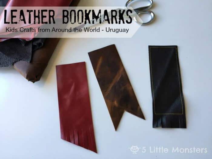 Uruguay - Leather Bookmarks - 5 Little Monsters