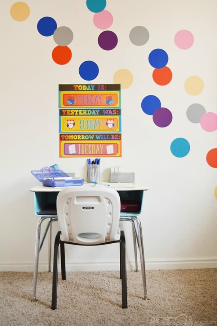 Kids Homework and Craft Desk | Our Thrifty Ideas| www.madewithHAPPY.com