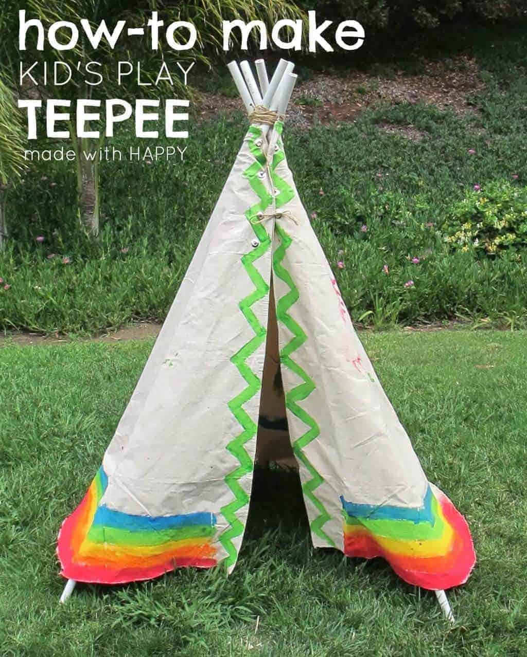 Kids Teepee made from canvas