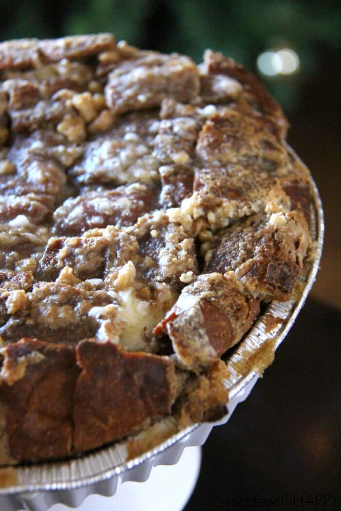 Pull Apart Cinnamon Roll   Kings Hawaiian Sweet Round Bread Cinnamon Rolls   Christmas Morning Breakfast   www.madewithHAPPY.com  #HostWithKH #ad