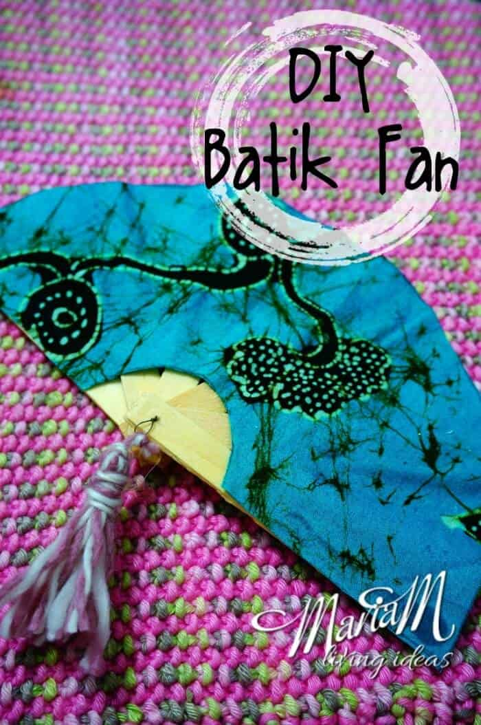 Indonesia - Batik Fan - Maria M Living Ideas
