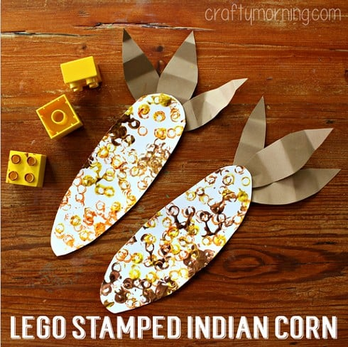 Lego Stamped Indian Corn Craft