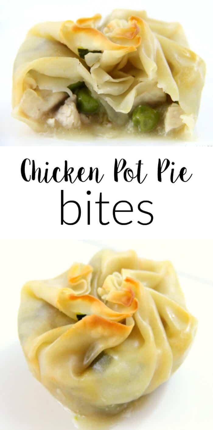 Chicken Pot Pie Bites | Reduced Fat Chicken Pot Pies | Wonton Chicken Pot Pies | Healthier Version of Chicken Pot Pies | Simply Raised Chicken | Kid Friendly Chicken Pot Pies | www.madewithhappy.com