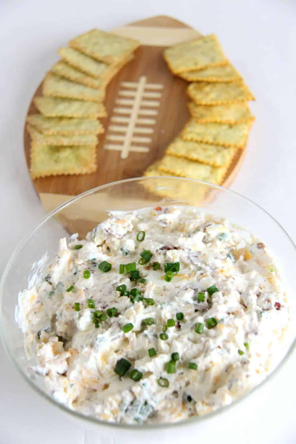 Loaded Potato Dip | Superbowl Recipes | Football Food | www.madewithHAPPY.com