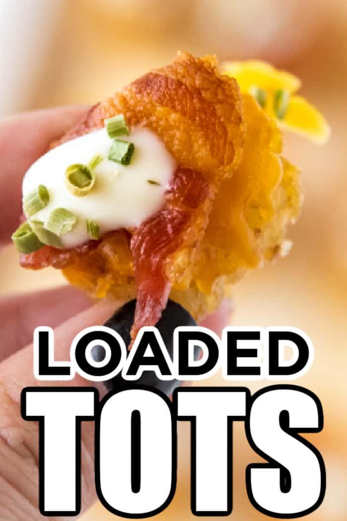 loaded baked potato tots