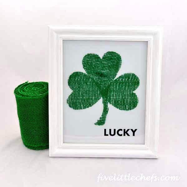 Glittery Lucky Clover
