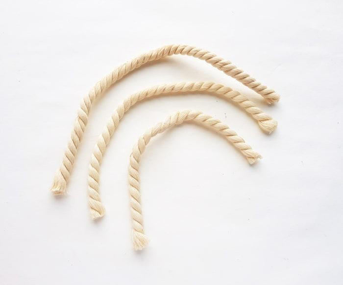 three piece of rope