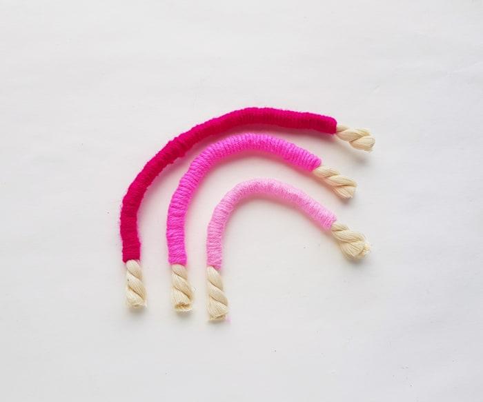 three separate ropes