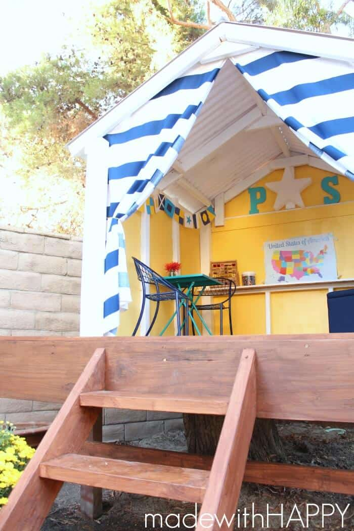 Diy Backyard Playhouse Made With Happy Treehouse