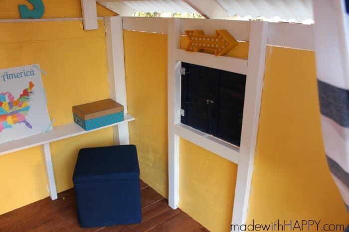 Treehouse | DIY Backyard Playhouse | Kids Outdoor Play Area | www.madewithHAPPY.com