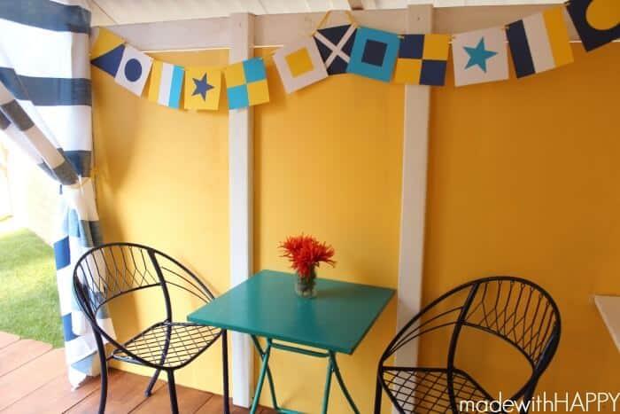 Treehouse | DIY Backyard Playhouse | Kids Outdoor Play Area | www.madewithHAPPY.com